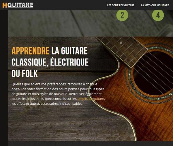 Vos cours de guitare en ligne sur Hguitare