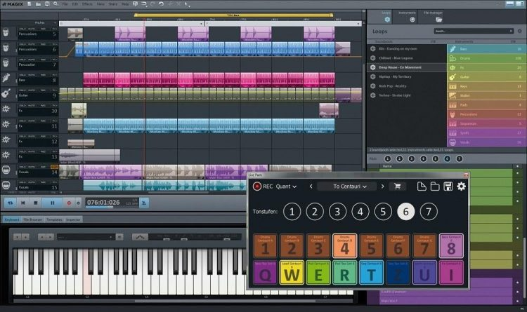 interface magix music maker anglais