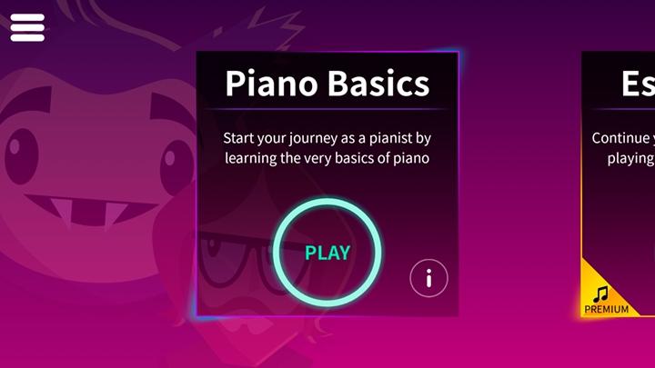 menu de base simply piano