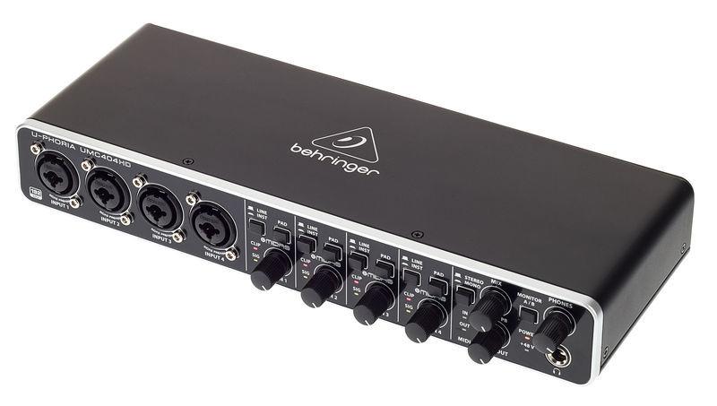 behringer u phoria umc404hd interface audio avis