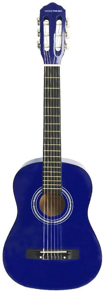 rocket cg12bl guitare classique taille 1 2 bleue avis