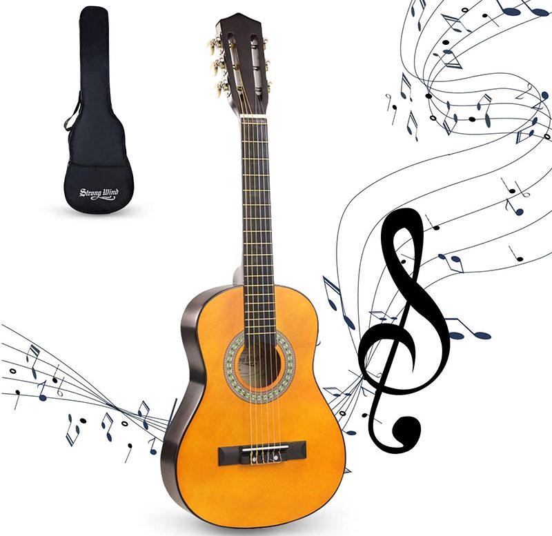 strong wind guitare classique cordes nylon débutants enfants 30pouces avis